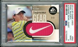 ⛳️ 2014 Sp Game Used Golf Supreme Gear 2/3 Rory Mcilroy Shirt Psa 9andnbsp