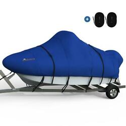 King Bird 16and039-18.5and039 Waterproof Anti-uv Oxford Center Console Boat Cover Blue