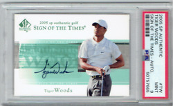 2005 Tiger Woods Sp Authentic Sign Of The Times Auto Psa - 9 Mint