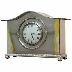 Ca 1900 Liberty And Co London Sterling Silver Plated Archibald Knox Mantle Clock
