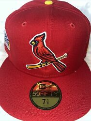 7 3/8 St. Louis Cardinals Red 2011 World Series Yellow Bottom Fitted Hat