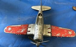Vintage Kiddie Toy By Hubley Navy Fighter Scale Model Airplane No 467 - See Pics