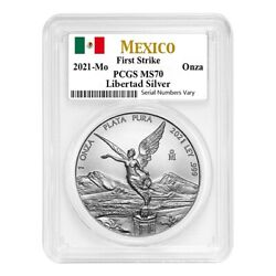 2021 1 Oz Mexican Silver Libertad Coin Pcgs Ms 70 First Strike