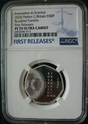 Great Britain Uk 50p 2020 Silver Piefort Proof Innovation In Science Ngc Pf70 Fr