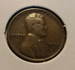 1924 D Lincoln Wheat Cent F Fine Bronze Penny 1c Us Coin Collectible