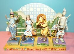 Jim Shore Heartwood Creek Wizard Of Oz Themed Set Of 4 Figurines And Display