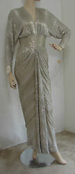 Louise Mandrell Album Cover Worn Maybe My Baby 1985 Silver Bead Vintage Gown
