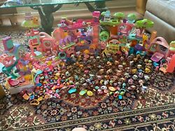 Lps Littlest Pet Shop Lot Over 100 Animals Plus Accessories And Houses