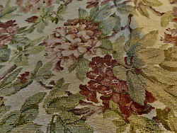 TAPESTRY UPHOLSTERY FABRIC 1 1 2 YARDS Floral Tan Green Rusty Wine Great