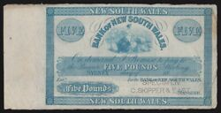 Australia Bank Of New South Wales Andpound5 Sydney 18- Issued Colour. Rare