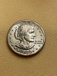 Very Rare 1980 Susan B Anthony One Dollar Coin D