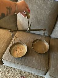 Antique Copper Hanging American Scales