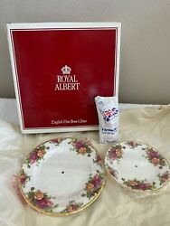 Royal Albert Old Country Roses 2 Tier Tidbit Serving Tray / Plate Unused