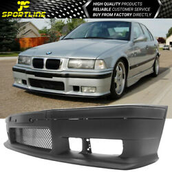 Fits 92-98 Bmw E36 3 Series M3 Style Front Bumper Cover Conversion Pp