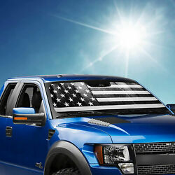 Windshield Sun Shade For 2015-2020 Ford F150 And 2017-2020 F250/f350 Us Flag Style