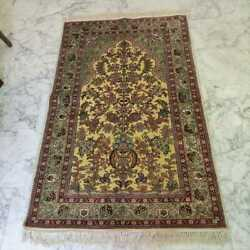 Antique Hand Made Silk Oriental Area Rug Carpet 3.5and039x5.75and039