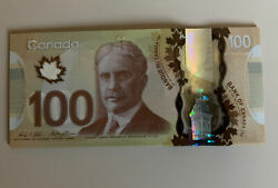 Canadian 100 Dollar Bank Note, Good Condition, Banknotes, Canada, Bill H