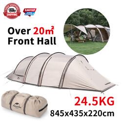 Camping Tunnel Tent Two Rooms One Hall 150d 4 Rods Outdoor Cinema With Screen