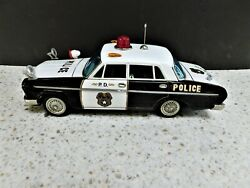 Atc Asahi Toy Toyota Crown Deluxe Tin Litho Toy Friction Police Car - Japan