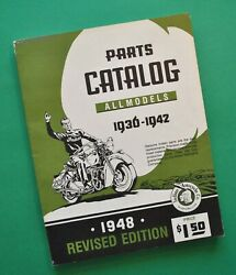 1936-42 Indian Motorcycle Chief Scout Four Restoration Parts Catalog Manual Book