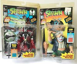 Set Of 2 New Spawn Action Figures Medieval Spawn And The Clown With Comic Books