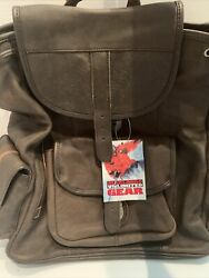 Vintage 1990's Leather Marlboro Unlimited Gear Backpack Rucksack New See Photos