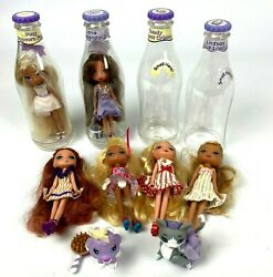 Lot Of 6 Mga Yummy Land Soda Pop Candy Dolls 2 Pets 4 Bottles And Accessories