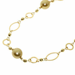 Tasaki  Necklace Goldpearl Pearl Tasaki With Plate K18 Yellow Gold