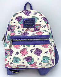 Disney Parks Loungefly Mad Tea Party Mini Backpack Alice In Wonderland Tea Cups