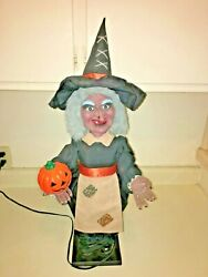 Vintage Telco Motionette Witch. Halloween Witch Decoration. 24. Animated.