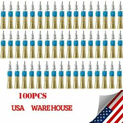 100pcs Ybang Dental E-type Straight Nosecone Low Speed Handpiece Ex203c Gold-us