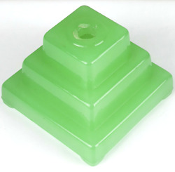 Vintage Jadeite Green Glass Stepped Base For Repair Replacement Creation Of Lamp