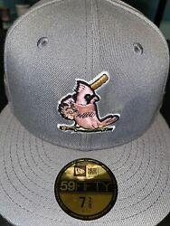 7 5/8 St. Louis Cardinals Grey 1967 World Series Pink Bottom Fitted Hat