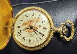 MAJESTIC 17JEWELS 16 SIZE GREAT HUNTING CASE POCKET WATCH RUNNING MINT DIAL
