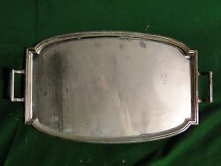 Silver Plated Art Deco Tray Small Size Simple Design And Shape Great Quality