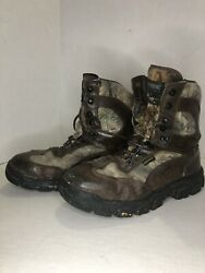 Wolverine 04776 Gore-tex Mens 9.5 M Brown Leather Camouflage Hunting Boots -used