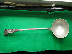 Kings Pattern Soup Ladle Sterling Silver -made In London 1845 Maker Rw, Antique
