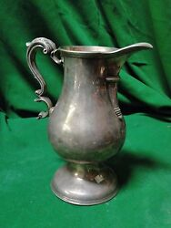 Silver Plated Jug Beautiful Simple Shape Crested 1800 English Top Quality