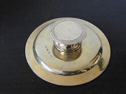 Antique Sterling Silver Communion Dish, Silver Gilt, Fully Marked London 1743