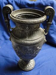 Large Beautifully Cast Vase, Great Imagery, Sporting Trophy, Antique 1860 French