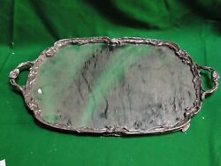 Mirrord Tray Silver Plated Art Nouveaux French 1890 Nice Piece Antique