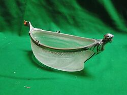 Ice Bucket In A Shape 0f Boat, Silver Plated Cast Borders, Antique French 1880