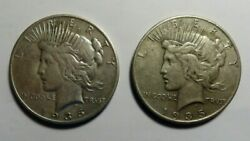1935 P - S Better Date Peace Dollars, Free Shipping In Usa