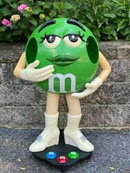 Green Lady Mandm M And M Store Candy Display Character On Wheels