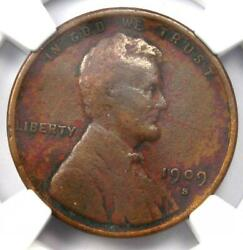 1909-s Vdb Lincoln Wheat Cent 1c Penny - Ngc Vf Details - Rare Key Date Coin