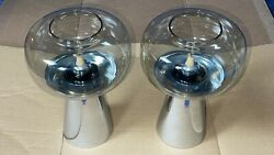 2 Fohl Mid Century Antique Candle Holders W. Germany Extremely Rare Condition