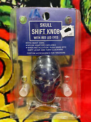 Pacific Blue 70156 Skull Shift Knob With Red Led Eyes Hot Rod Custom Truckers