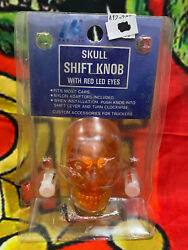 Pacific Amber 70155 Skull Shift Knob With Red Led Eyes Hot Rod Custom Truckers