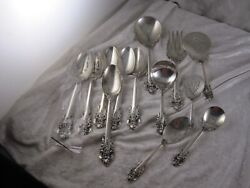 Wallace Grande Baroque Sterling Silver Serving Pc's Lot