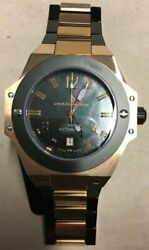 Chase-durer Conquest Limited Edition Automatic Date Rose Gold Pearl Black W/ Box